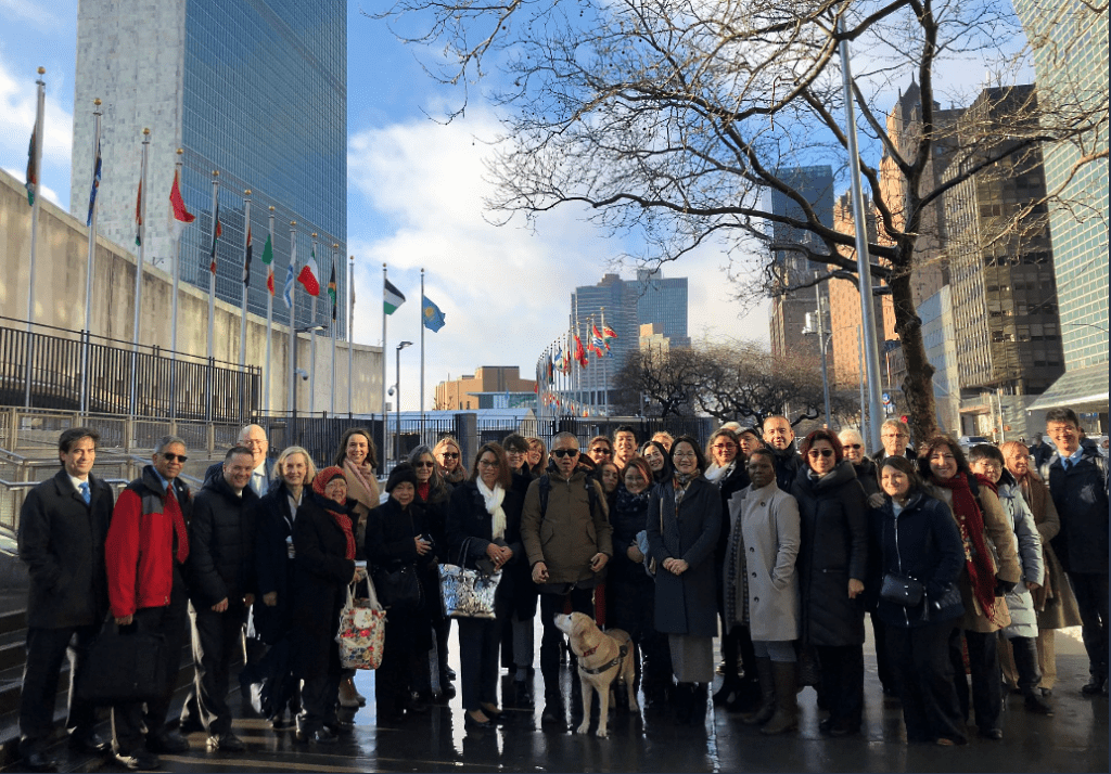 RDI members outside UN in NYC